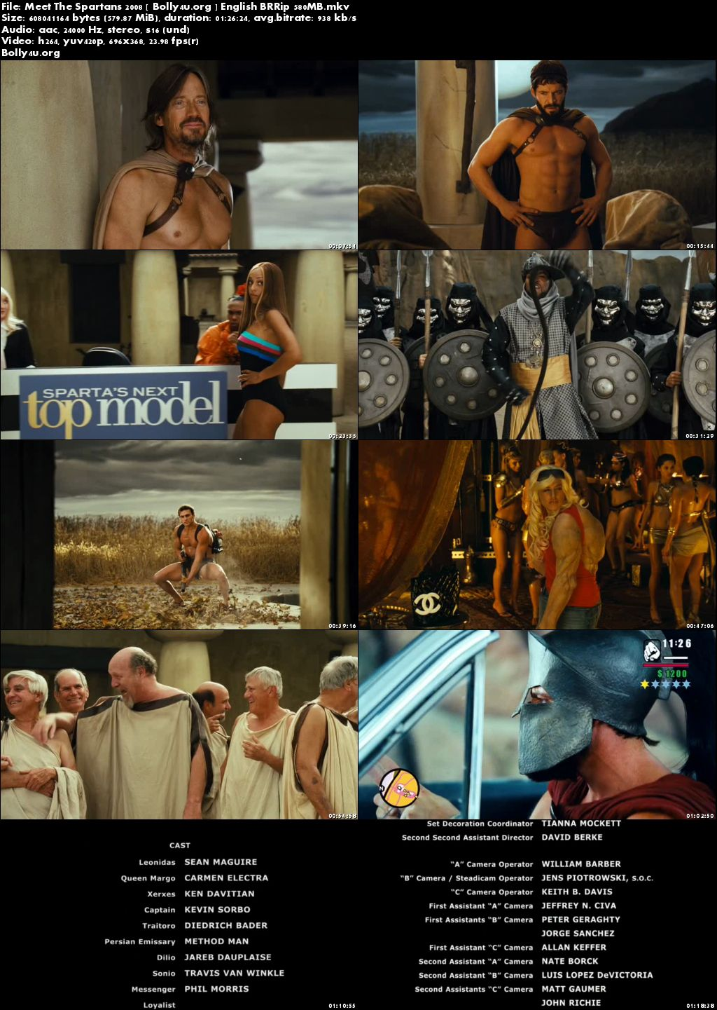 Meet The Spartans 2008 BluRay 250MB English 480p Download