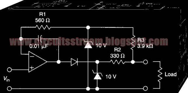 Simple Protected Intrinsically Safe Op Amp Circuit Diagram
