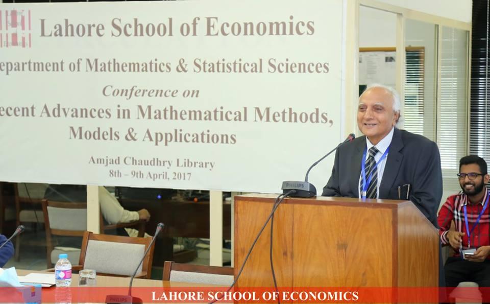 Lahore School of Economics: Recent Advances in Mathematical