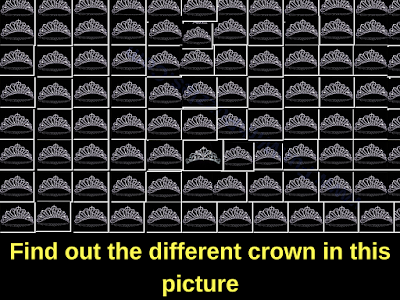 Odd One Out Visual Brain Teaser of Crown