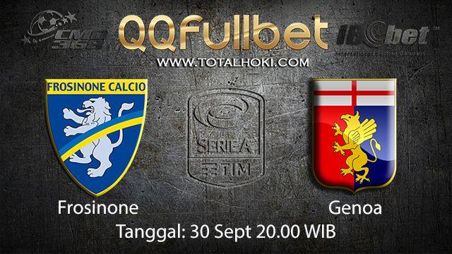 Prediksi Bola Jitu Frosinone vs Genoa 30 September 2018 ( Italian Serie A )