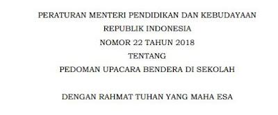 Permendikbud Nomor 22 Tahun 2018