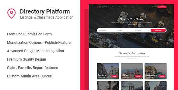 the application supports micro transactions to divulge the listing together with brand the listing rest at Directory Platform v1.0.8 - Listings & Classifieds Download
