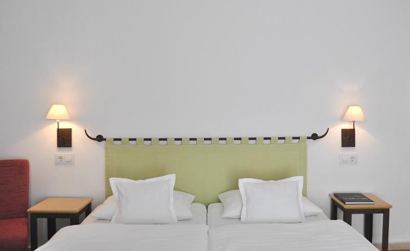 double bedroom at hotel Palau Sa Font