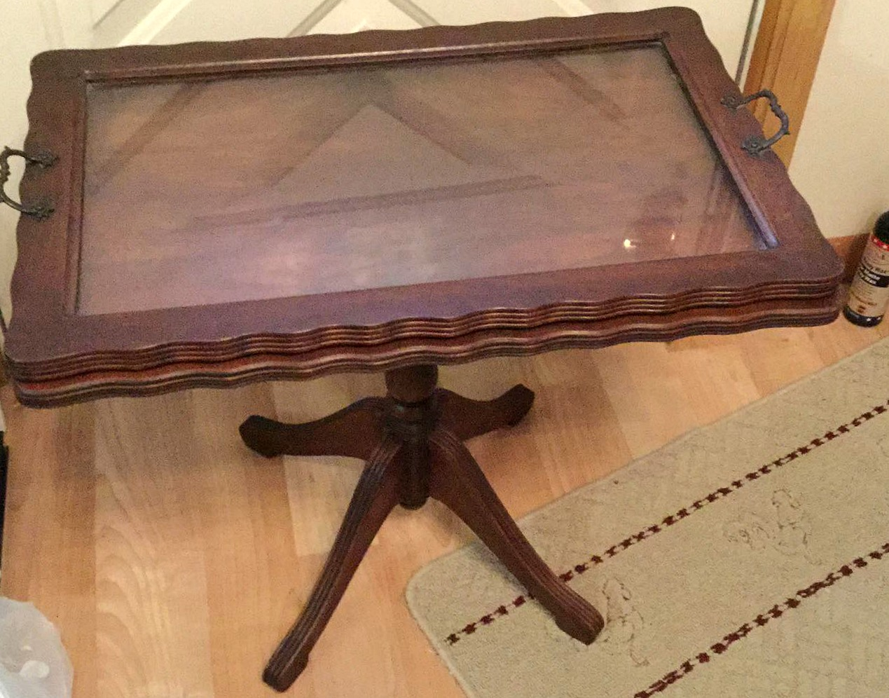 Vintage Coffee Table Up Cycle In Navy