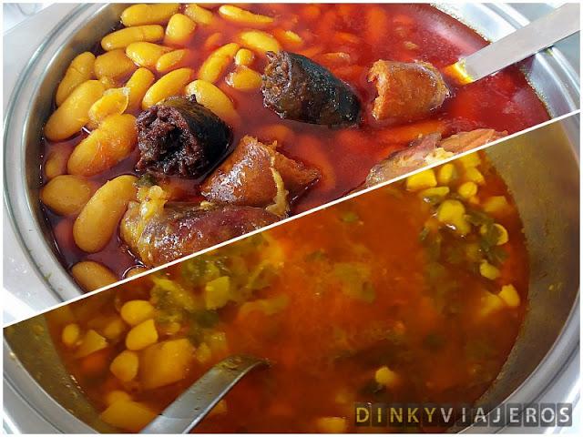 Fabada y pote asturiano