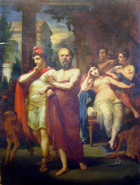 Sócrates Afastando Alcebíades do Vício - Pedro Américo - Brasileiro