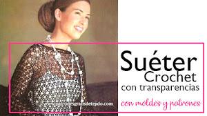 Suéter con transparencias a crochet / Paso a paso