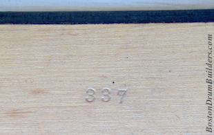 George B. Stone & Son Master-Model Drum Numberings