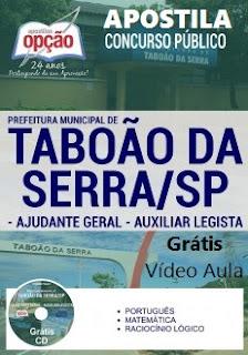 Apostila - AJUDANTE GERAL Prefeitura de Taboão da Serra 2017