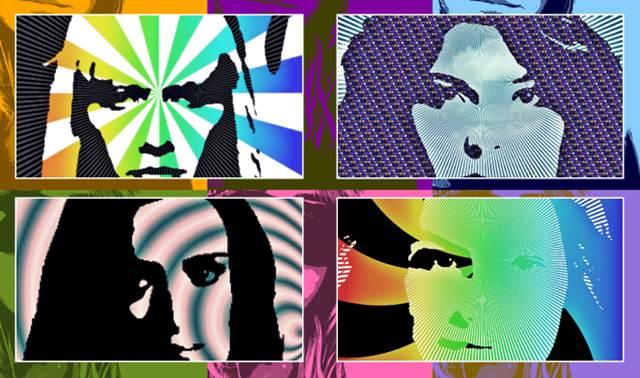 Gambar Pop Art Wallpaper Supermodel Untuk Desktop Komputer PC