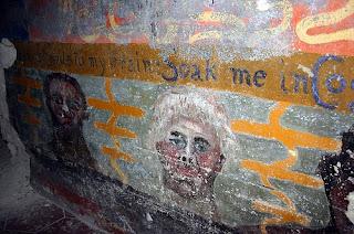 Una de las paredes de la fatídica abadía de Thelema