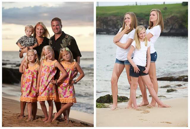 maui beach family portrait photography