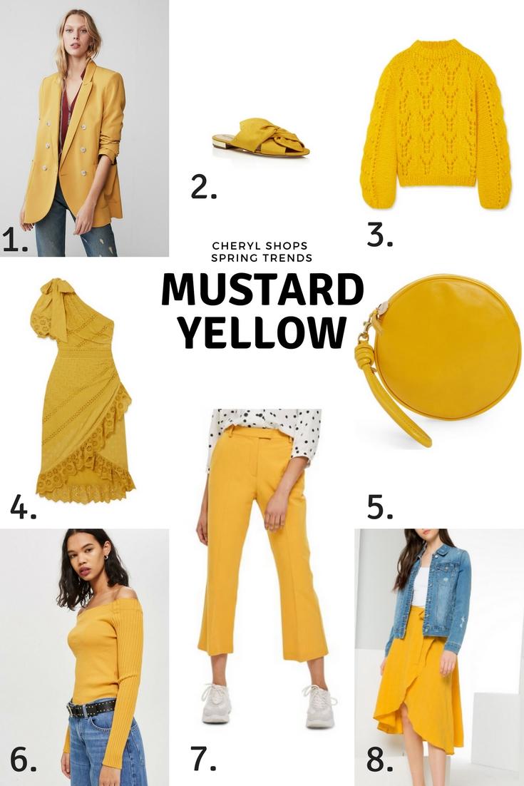 Spring Trends Mustard Yellow Thursday Moda Linkup Cheryl Shops