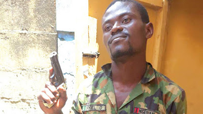 See Serving Soldier Arrested For Alleged Robbery In Lagos