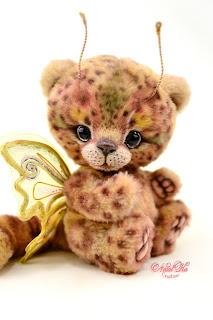 NatalKa Creations, Natalie Lachnitt, artist teddy bear, Golden George, leofly, teddy leopard, teddy kitten, butterfly, teddy bear, ooak teddy bear, Künstlerbär, Teddybär, Künstlerteddy, teddies with charm, buy teddy bear, artist bears, мишки тедди, авторский мишка тедди, тедди медведи, artist toy, designer toy