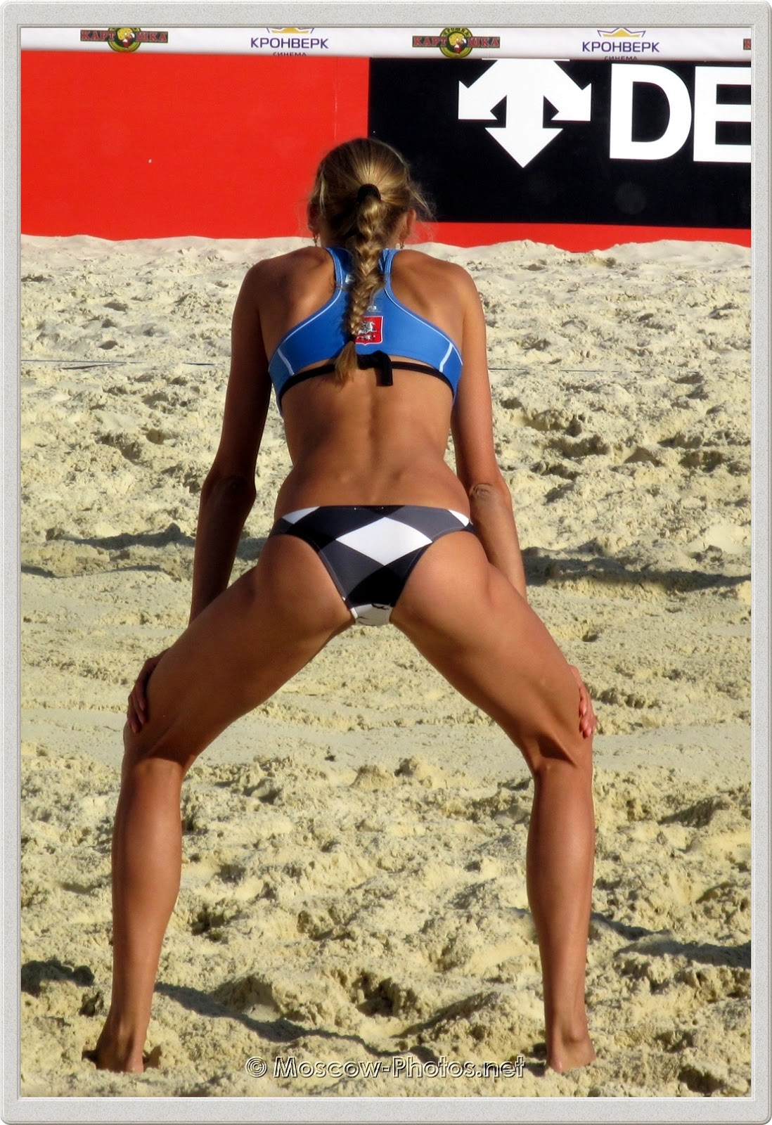 Anastasia Vasina at FIVB Beach Volleyball Swatch World Tour 2012