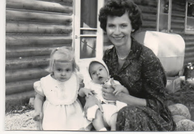 Angela Henn Bollinger, her daughter and eldest son, approximately 1961