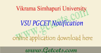 VSU PGCET 2019 notification, VSUPGCET application form 2019,VSU PGCET notification 2019