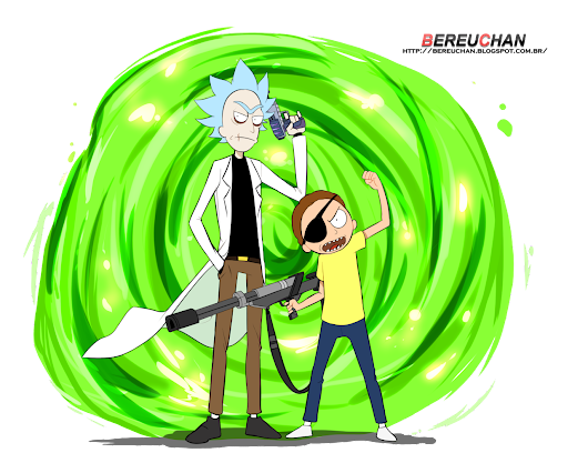 Rick e Morty - render - BereuChan