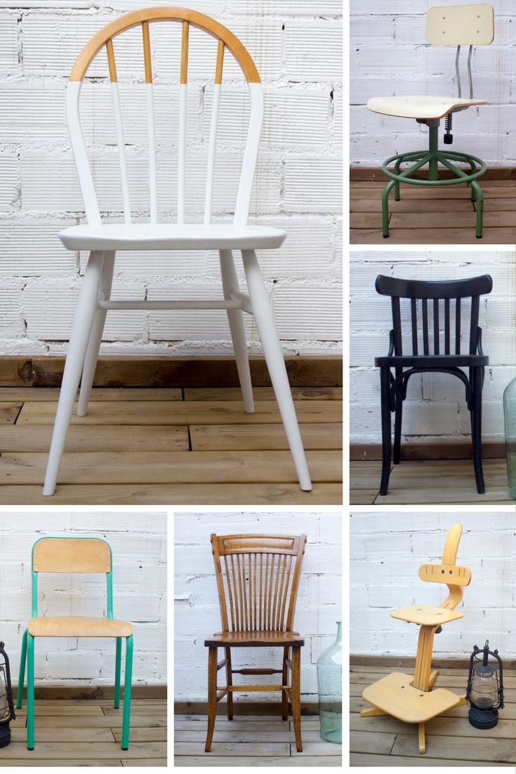 Variedad de sillas en venta. Studio Alis - Barcelona