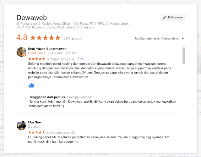 Review kecepatan website