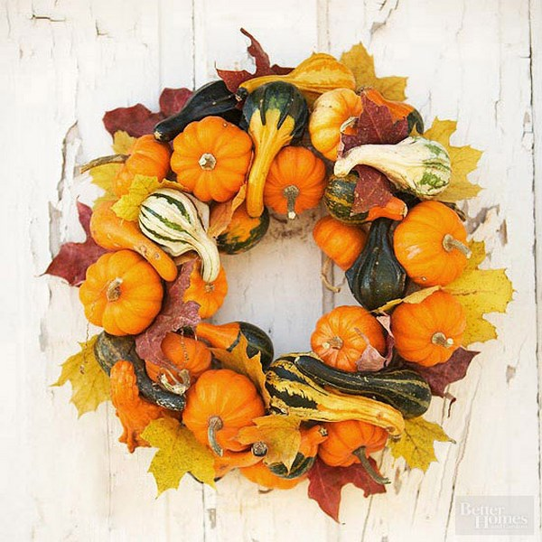 coronas de puerta otoño