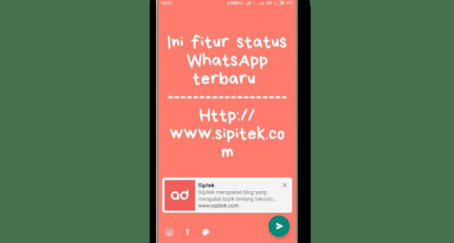 Status Tulisan dengan Background Berwarna di WhatsApp