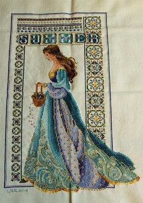 Celtic Summer Lavender and Lace. Punto de cruz