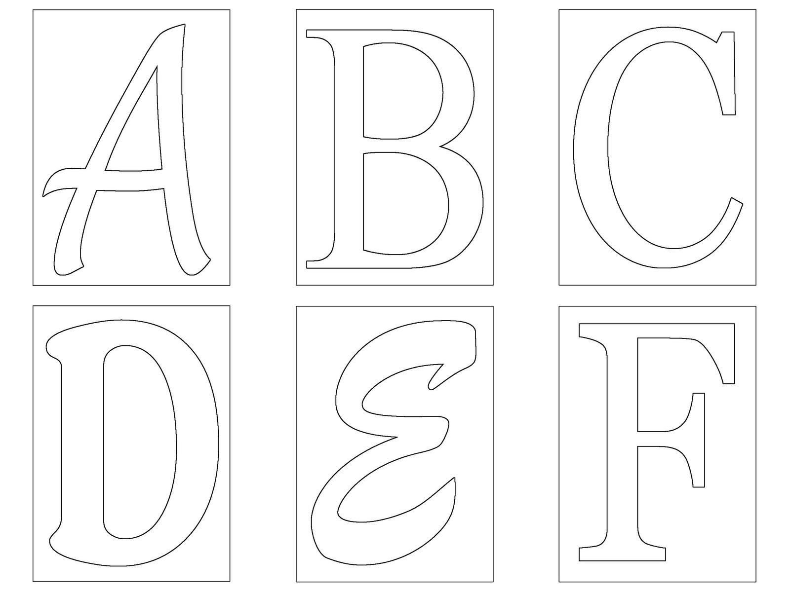 Free letters to print and cut out free stencil letters for Printable alphabet book template