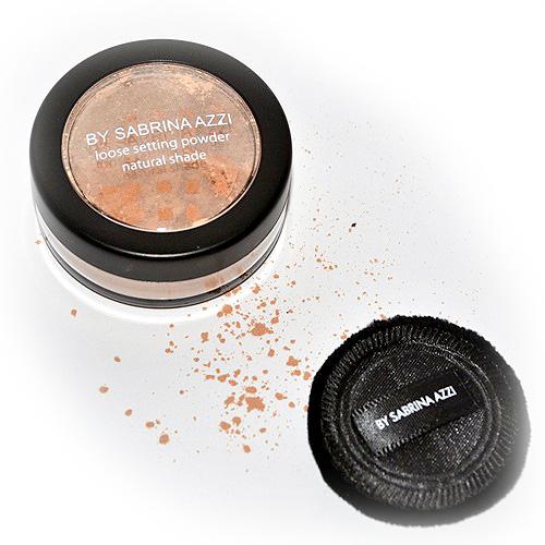 polvos sueltos de maquillaje by sabrina azzi con borla