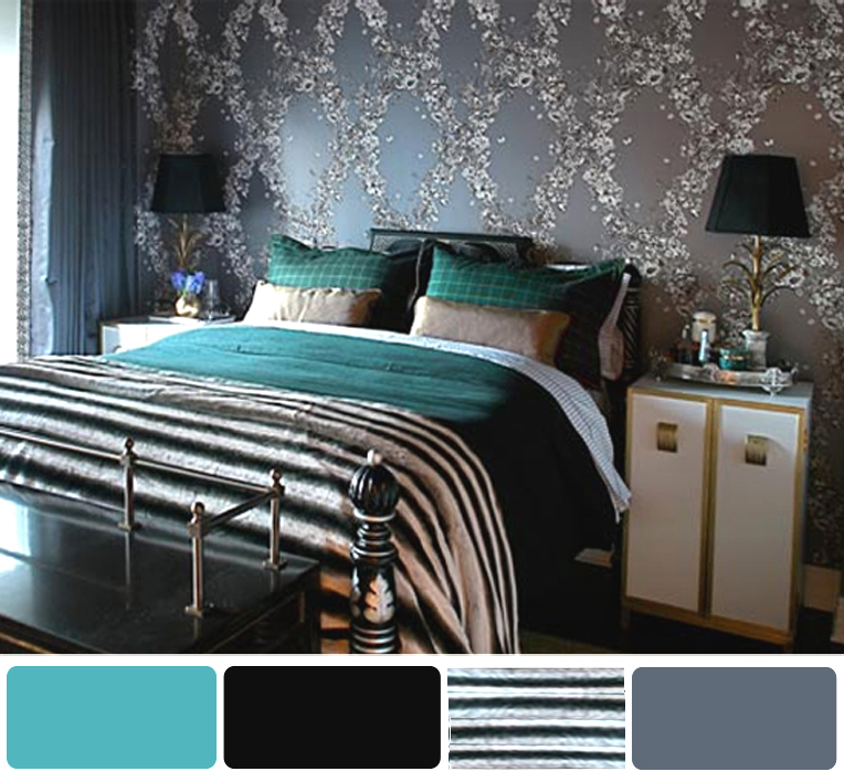 Home Design Interior Monnie: Turquoise Black And White ...