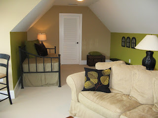 Bonus Room Accent Walls. Lowes - New Avocado Green