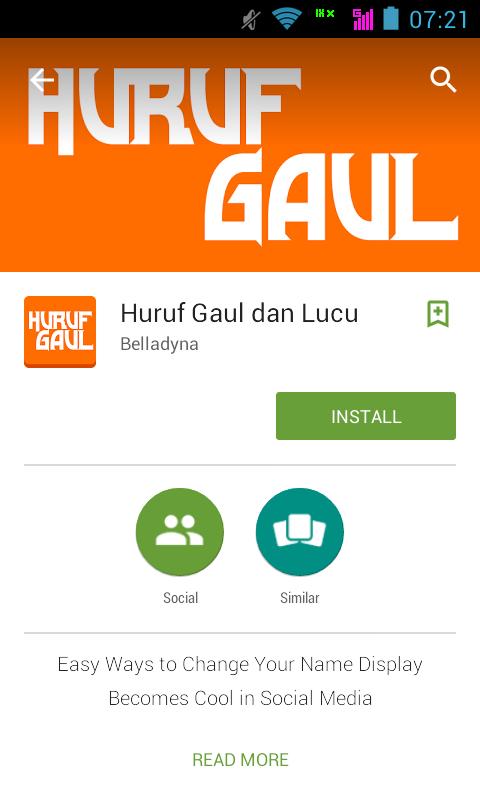 Rubah Huruf BBM Android