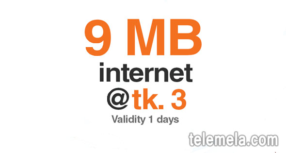 banglalink 9mb internet 3tk