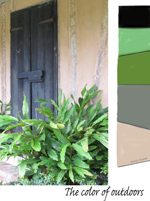 Colorboard - A doorway in Natchitoches down under on Cane River Lake