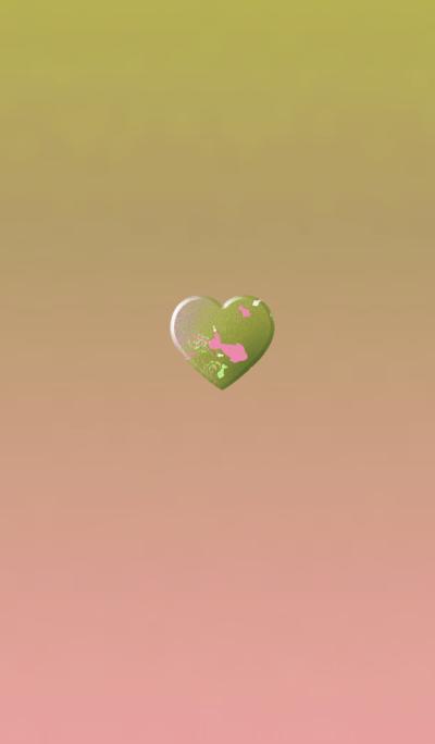 Goldfish Sheepskin Pink Green Heart