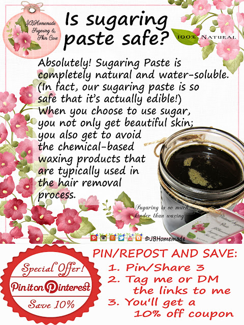 Is sugaring paste safe? Absolutely! Sugaring Paste is all natural & water-soluble. (In fact, our sugaring paste is so safe you can eat it!) When you sugar, you get beautiful skin and avoid chemical-based waxing products typically used in the hair removal process.