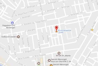 Lokasi Google map Rumah 1139-1 Jakarta Utara - Sunter Kemayoran