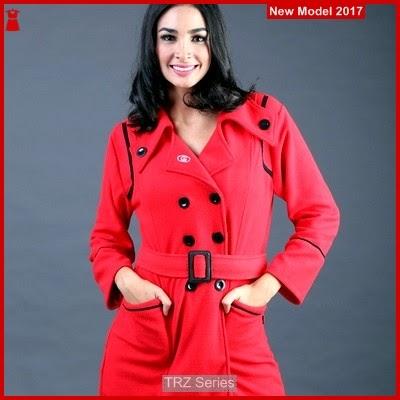 TRZ07 Sweater Wanita Fleece Merah 002 Murah