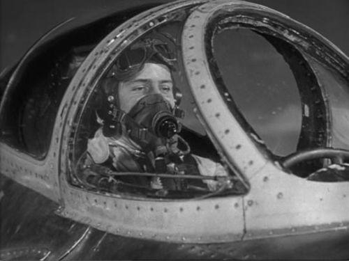 John Justin in jet cockpit