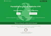 Website untuk layanan Pendaftaran Online Website HMI