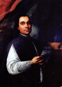A portrait of Vaccarini by Gaspare Serenario, painted in 1761