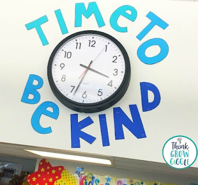 time to be kind classroom display