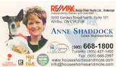 Whitby Remax Rouge River, Real Estate Agent Anne Shaddock Realtor Whitby in Whitby