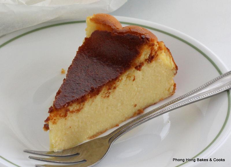 Phong Hong Bakes and Cooks Burnt Cheesecake