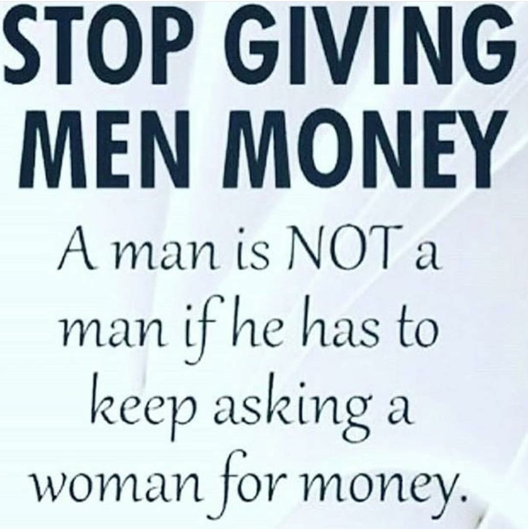when a man asks you for money