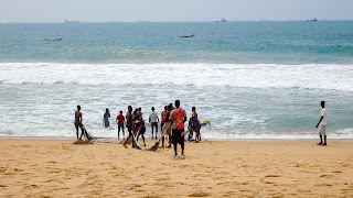 Not many people swim in Togo, but there are some locals which have time