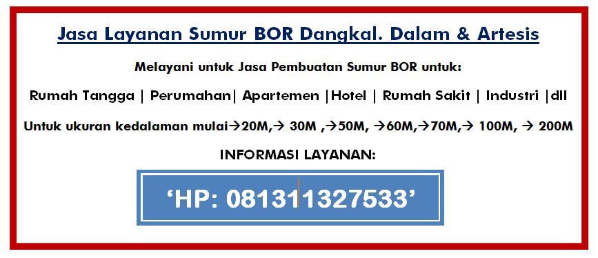 Harga Bor Sumur Jetpum Satelit Di Tangerang 081311327533