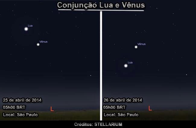 Conjunção Lua e Vênus